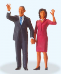 Preiser 28144 - HO / OO Scales President Obama & The First Lady